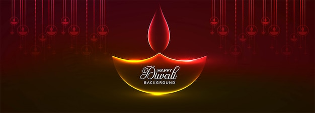 Diwali hindu festival greeting card header or banner