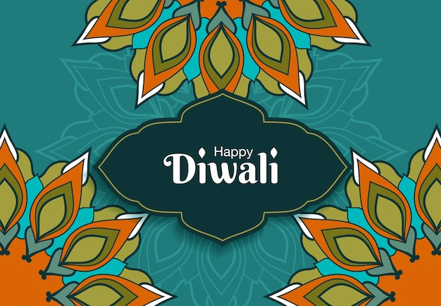 Diwali hindu festival greeting card