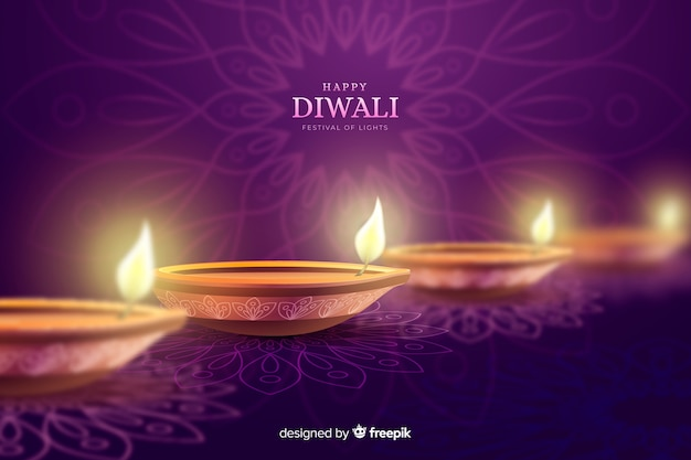 Diwali holiday candles celebration background