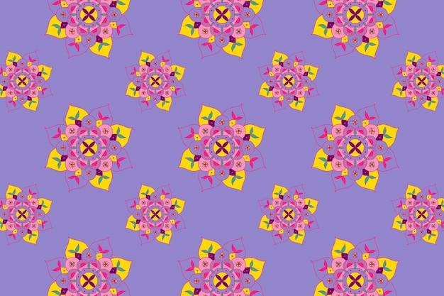 Diwali indian  mandala pattern rangoli background