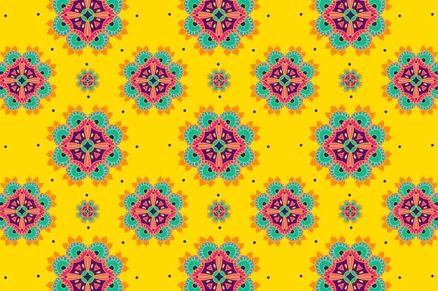 ディワリインドの曼荼羅ベクトルパターンの背景