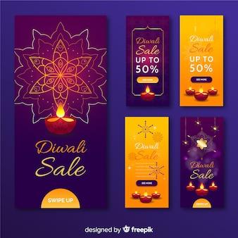 Diwali instagram stories collection