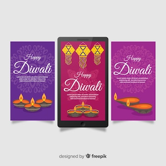 Diwali instagram stories pack