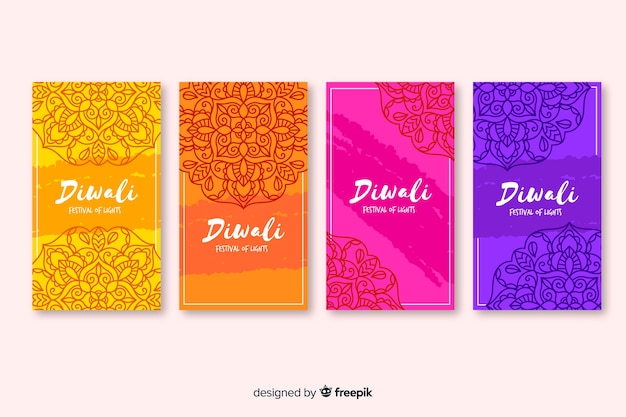 Diwali instagram stories and traditional background
