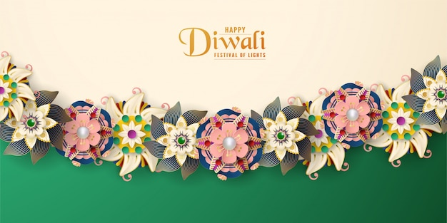 Diwali is festival of lights of hindu for greeting card