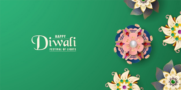 Diwali is festival of lights of hindu for invitation background.