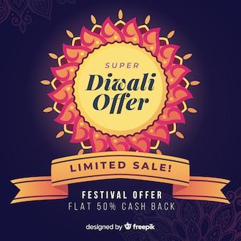 Diwali offer and limited sale flat design
