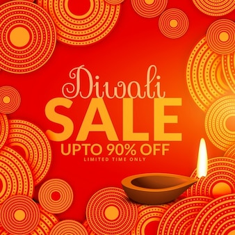 Diwali offers background of abstract circles