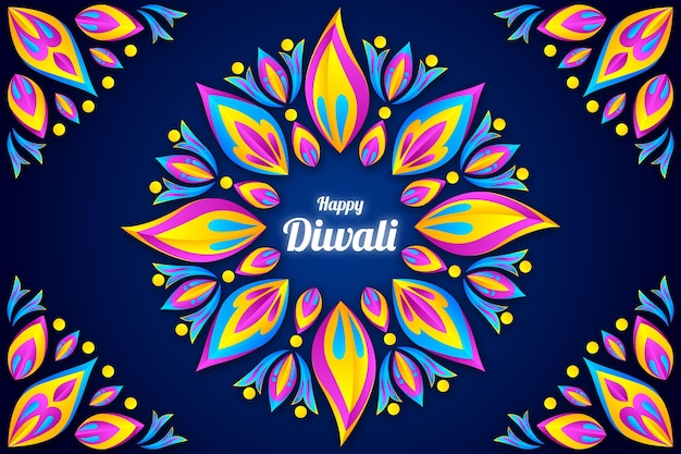 Diwali paper style background