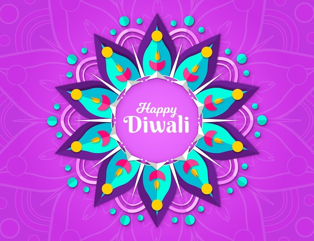 Diwali in paper style