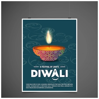 Diwali poster background