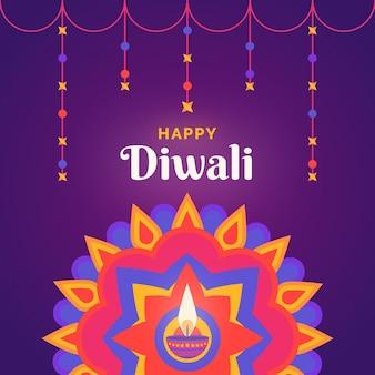 Diwali religious event flat design