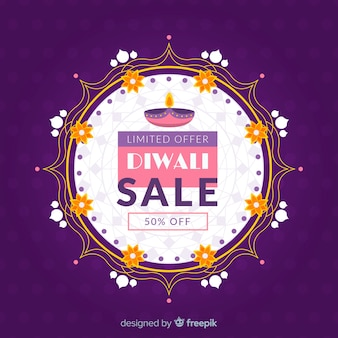 Diwali sale abstract traditional design