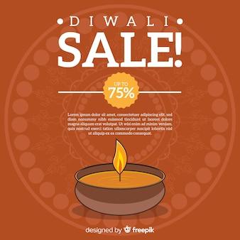 Diwali sale background template