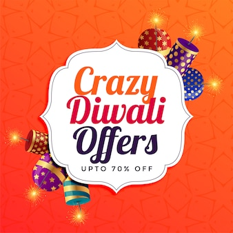 Diwali sale background with crackers
