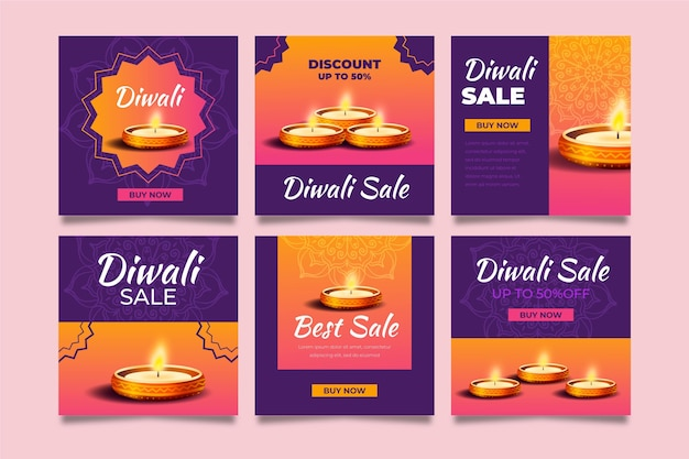 Diwali sale instagram post collection