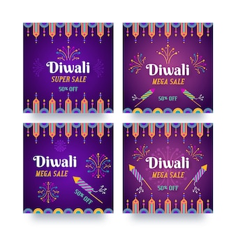 Diwali sale instagram post collection
