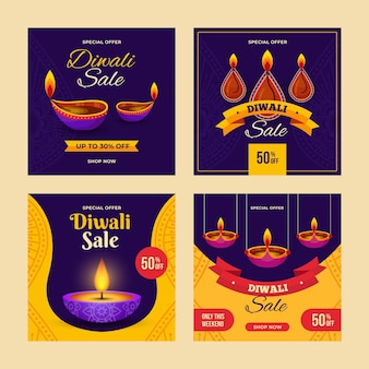 Diwali sale instagram posts