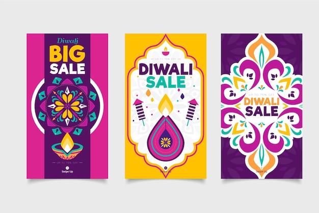 Diwali sale instagram stories collection
