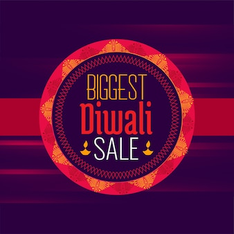 Diwali sale poster design template in ethnic style