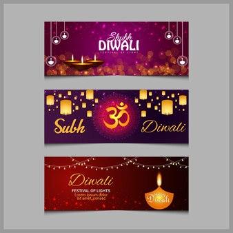 Diwali sale for website banner design