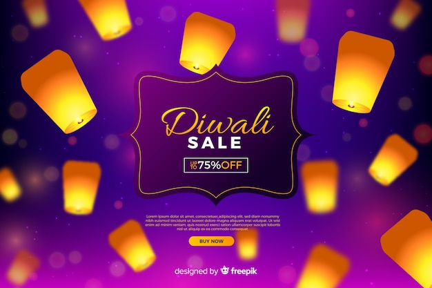 Diwali sale with lights