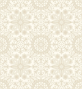 Diwali seamless pattern with indian ornament, flower and leaf