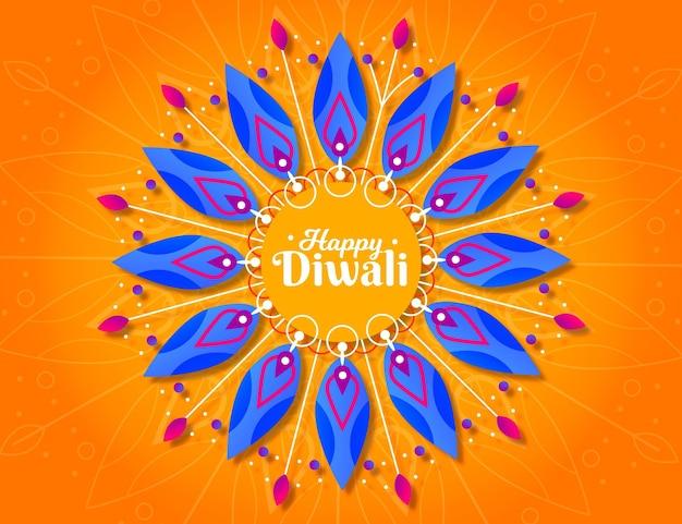 Diwali spiritual event flat design