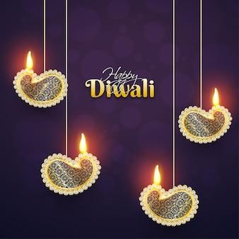 Счастливый фон diwali.