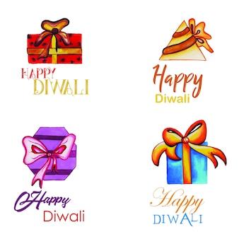 Коллекция акварели diwali