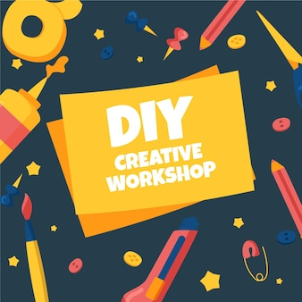 Diy creative workshop concept