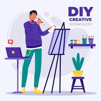 Diy концепция творческой мастерской