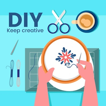Diy creative workshop illustrated