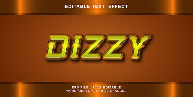 Dizzy text effect editable illustration