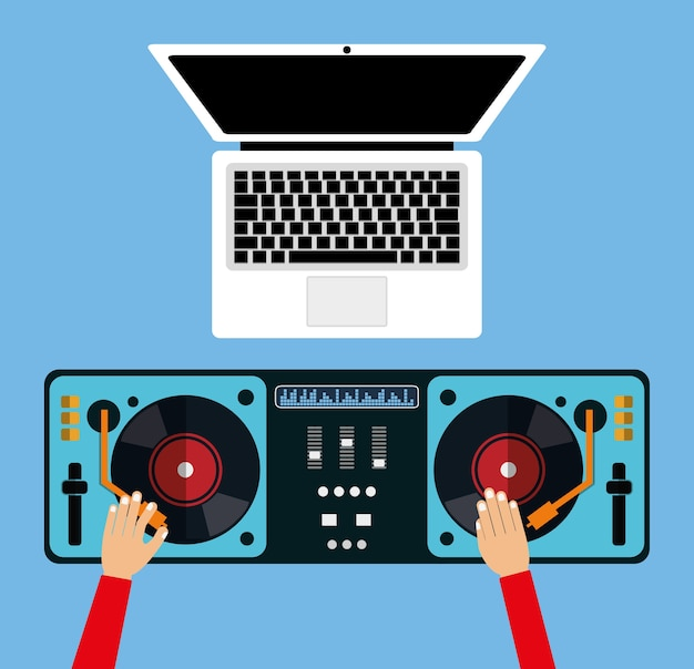 Dj electronic music party