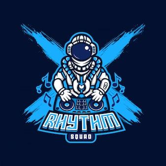 宇宙飛行士djリズムロゴesport gaming