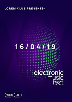 Dj event. minimal concert cover design. dynamic gradient shape and line. dj event neon flyer. techno trance party. electro dance music. electronic sound. club fest poster.