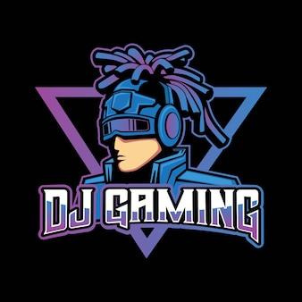Dj gaming logo design