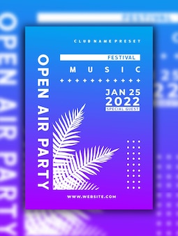 Шаблон сообщения в социальных сетях dj music event flyer