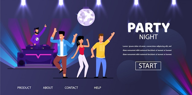 Dj night club party play музыка люди народный танец