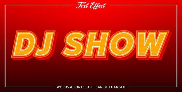 Dj show text effect