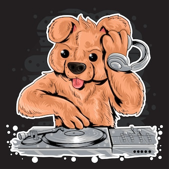 Dj teddy bear house music party