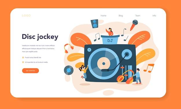 Dj web banner or landing page