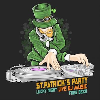 聖パトリックの日djミュージックパーティー