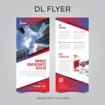 Dl flyer or rollup template