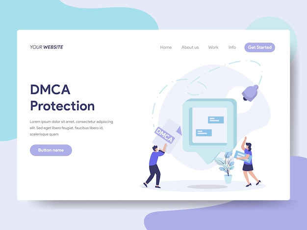 Dmca protection for web page