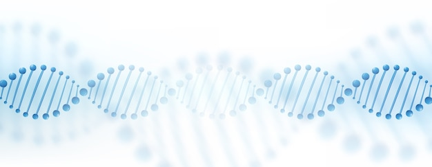 Dna chromosome banner concept.