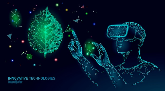 Dna evolution modern engineering technology. augmented reality