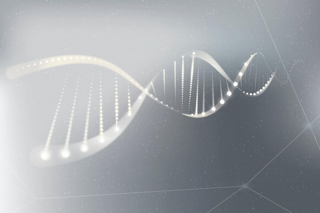 Dna genetic biotechnology science vector gray neon graphic Free Vector