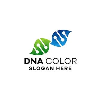 Dna gradient logo template
